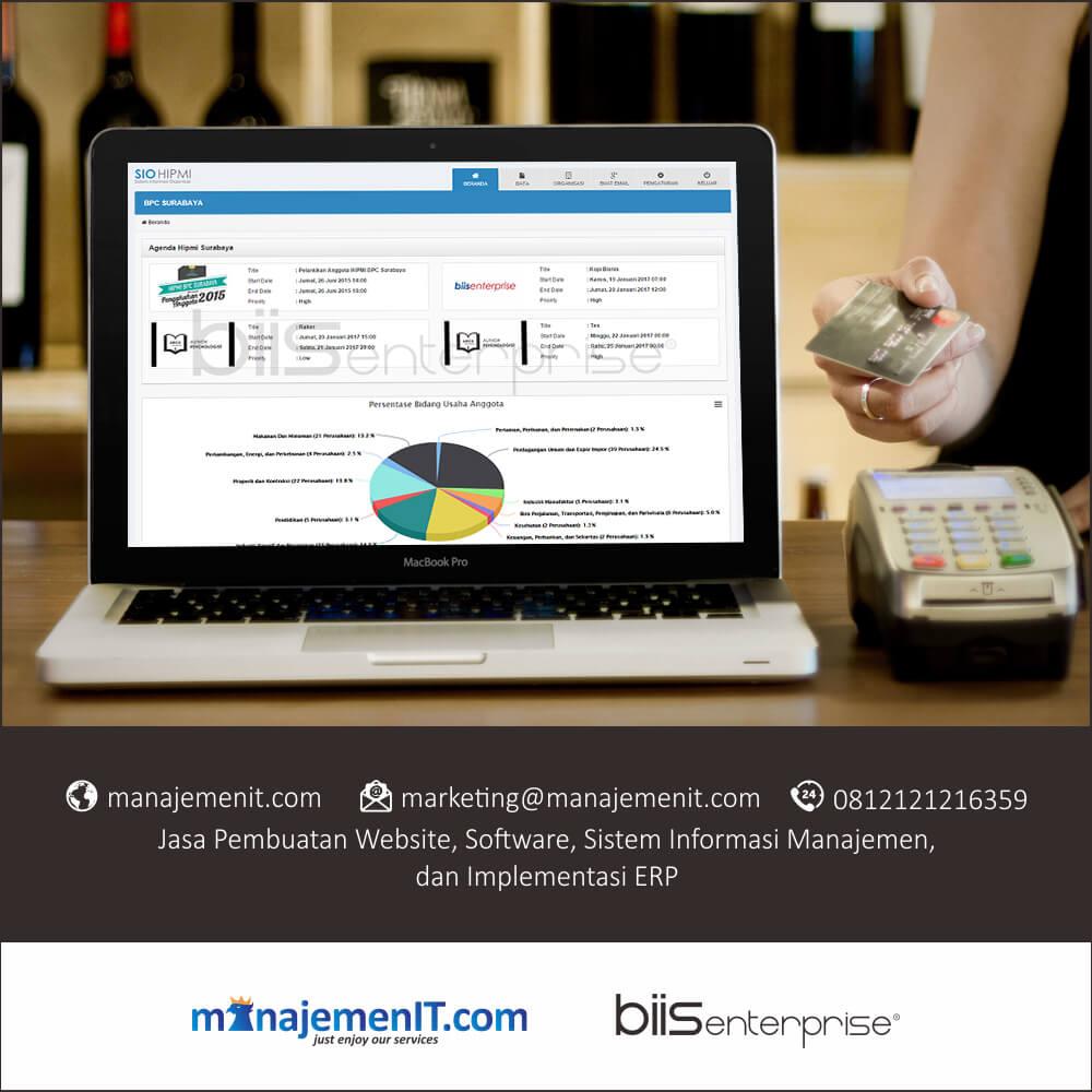 1 – portofolio sistem informasi manajemen organisasi hipmi surabaya – dashboard